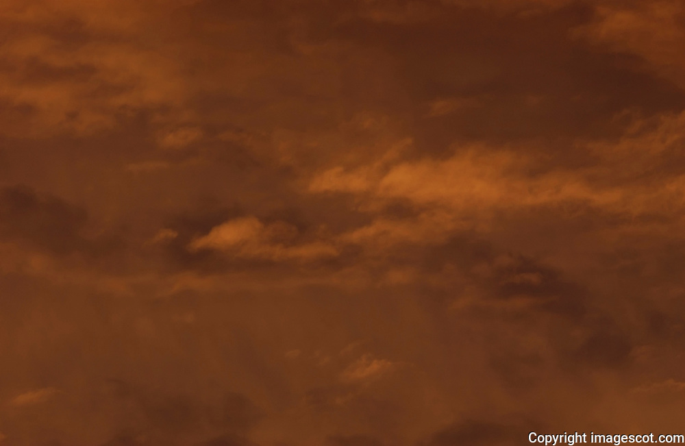Sunset sky, winter