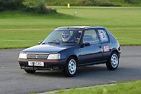 #3 David Goodlad Peugeot 205 GTi (Class SB - Road going Production Standard Saloon Cars over 1400cc up to 2000cc)  during The Autumn Sprint at Aintree Motor Racing Circuit at Aintree Circuit, Liverpool, Merseyside, United Kingdom. September 05 2015. World Copyright Taylor/PSP. Copy of publication required for printed pictures.  Every used picture is fee-liable. http://archive.petertaylor-photographic.co.uk