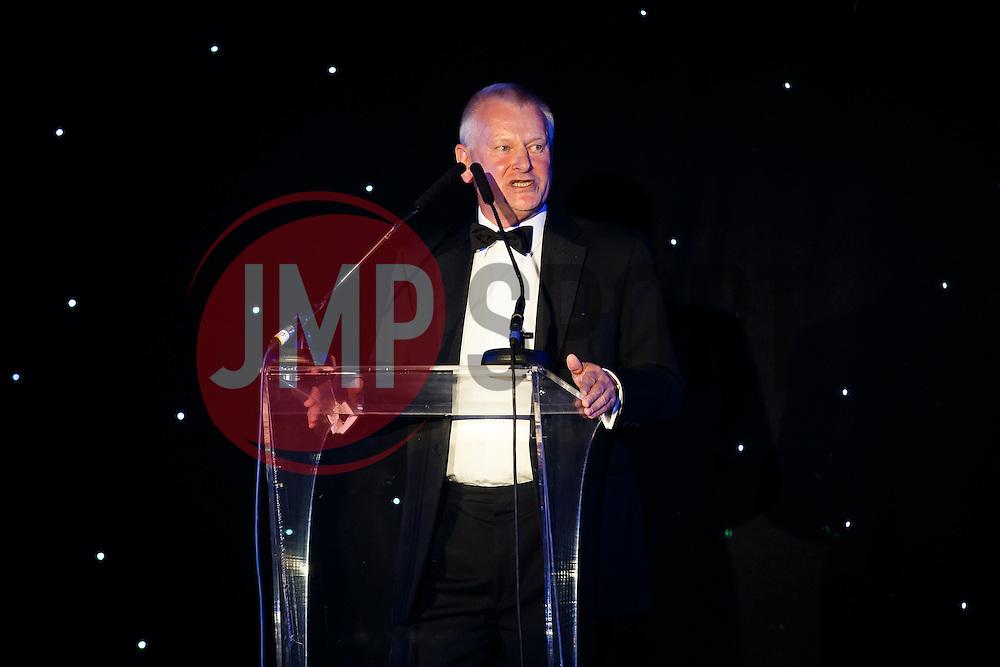 Steve Lansdown speaks at Bristol Sport's Annual Gala Dinner at Ashton Gate Stadium - Mandatory byline: Rogan Thomson/JMP - 08/12/2015 - SPORT - Ashton Gate Stadium - Bristol, England.