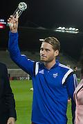 09.09.2015; Vaduz; Fussball European Qualifiers   - Liechtenstein -Russland; Fussballer des Jahres ist Nicolas Hasler (Michael Zanghellini)