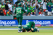 5 Wickets - Shaheen Afridi of Pakistan prays as he celebrates taking the wicket of Mohammad Mahmudullah Riyad of Bangladesh during the ICC Cricket World Cup 2019 match between Pakistan and Bangladesh at Lord's Cricket Ground, St John's Wood, United Kingdom on 5 July 2019.