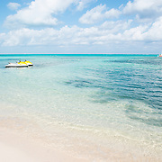 Turquoise Beach at Rum Point, East End. Grand Cayman Island.