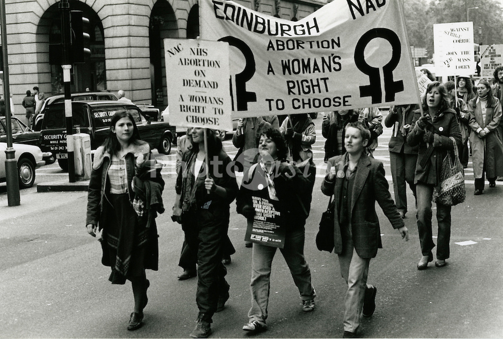 Abortion rally London 1979