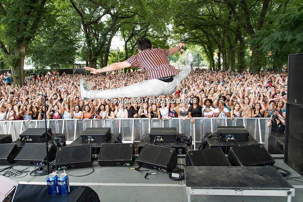 MAX performs on the BMI Stage during Lollapalooza at Grant Park on August 3, 2017 in Chicago, IL.