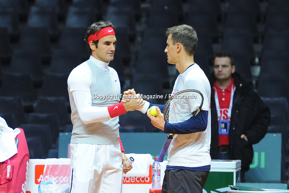 Roger Federer (Sui) et Marco Chiudinelli