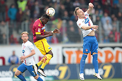 23.04.2016, Voith Arena, Heidenheim, GER, 2. FBL, 1. FC Heidenheim vs SC Paderborn 07, 31. Runde, im Bild Khaled Narey ( SC Paderborn 07 ) am Ball. Rechts Arne Feick ( 1.FC Heidenheim ) links im HG Kapitaen Marc Schnatterer ( 1.FC Heidenheim ) // during the 2nd German Bundesliga 31th round match between 1. FC Heidenheim vs SC Paderborn 07 at the Voith Arena in Heidenheim, Germany on 2016/04/23. EXPA Pictures &copy; 2016, PhotoCredit: EXPA/ Eibner-Pressefoto/ Bozler<br /> <br /> *****ATTENTION - OUT of GER*****