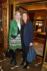 Left to right, JORI WHITE and AMANDA PEARSON at the Cash & Rocket Tour Announcement Launch Lunch in association with McArthur Glen was held at The Grill, The Dorchester, Park Lane, London on 12th March 2015.