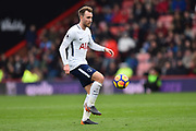 Christian Eriksen (23) of Tottenham Hotspur during the Premier League match between Bournemouth and Tottenham Hotspur at the Vitality Stadium, Bournemouth, England on 11 March 2018. Picture by Graham Hunt.