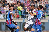 Damien DA SILVA / Alexandre LACAZETTE / Nicolas SEUBE - 09.05.2015 -  Caen / Lyon  - 36eme journee de Ligue 1<br />Photo : Vincent Michel / Icon Sport