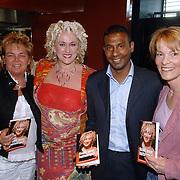 "NLD/Amsterdam/20060427 - Boekpresentatie Karin Bloemen ""Nooit meer buitenspel"", Marja Woldberg, Karin Bloemen, Aaron Winter en Vera Paul"
