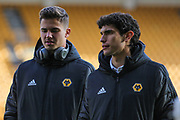 The Wolverhampton Wanderers players arrive before the Premier League match between Wolverhampton Wanderers and Aston Villa at Molineux, Wolverhampton, England on 10 November 2019.