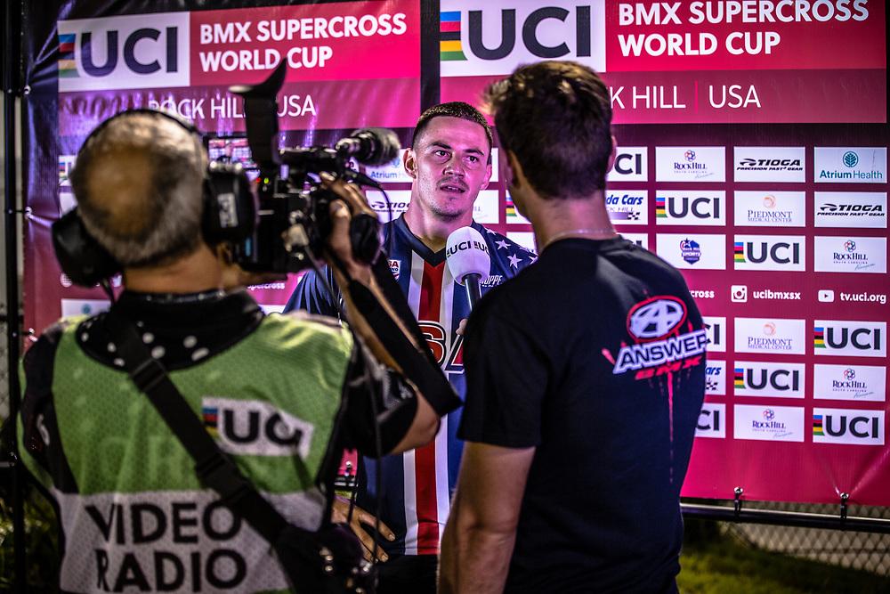 #24 (SHARRAH Corben) USA [Daylight, Faith, Avian] wins Round 7 of the 2019 UCI BMX Supercross World Cup in Rock Hill, USA