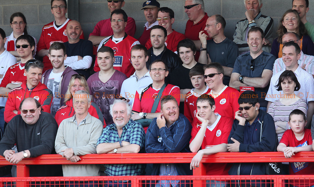 JAMES BOARDMAN / 07967642437..Crawley's supporters seen during the NPower Division Two match between Crawley Town and Rotherham at the Broadfield  Stadium in Crawley. March 24, 2012.