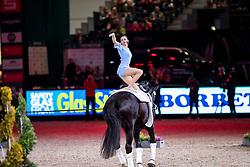 DERKS Janika (GER), Dark Beluga<br /> Leipzig - Partner Pferd 2019<br /> FEI Vaulting World Cup<br /> 2. Umlauf<br /> Damen / Female<br /> 19. Januar 2019<br /> © www.sportfotos-lafrentz.de/Stefan Lafrentz