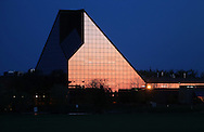 The reflection of the setting sun at the Royal Canadian Mint, Saturday, June 1, 2013. (TREVOR HAGAN/WINNIPEG FREE PRESS)