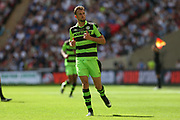 Forest Green Rovers Christian Doidge(9) during the Vanarama National League Play Off Final match between Tranmere Rovers and Forest Green Rovers at Wembley Stadium, London, England on 14 May 2017. Photo by Shane Healey.