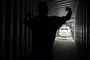 Mlada Boleslav/Tschechische Republik, Tschechien, CZE, 19.03.07: Ein Skoda Octavia wird auf dem Werksgel&auml;nde der Skoda Auto Fabrik f&uuml;r den Export in einen Container geladen. Mlada Boleslav. Der tschechische Autohersteller Skoda ist ein Tochterunternehmen der Volkswagen Gruppe.<br /> <br /> Mlada Boleslav/Czech Republic, CZE, 19.03.07: Worker co-ordinate loading of Skoda Octavia vehicle into transport container for export at Soda car factory in Mlada Boleslav. Czech car producer Skoda Auto is subsidiary of the German Volkswagen Group (VAG).