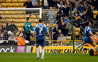 Photo: Ed Godden/Sportsbeat Images.<br />Wolverhampton Wanderers v Oldham Athletic. The FA Cup. 06/01/2007. Craig Davies (on floor far right) scores for Wolves. 2-1.