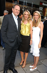 Left to right, the EARL OF DARTMOUTH, LADY BELL and her daughter the HON.DAISY BELL at an exhibition of photographs by David Montgomery entitled 'Shutterbug' held at Scream, 34 Bruton Street, London W1 on 13th July 2006.<br />