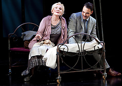 © Licensed to London News Pictures. 08/10/2012. London, U.K..SIAN PHILLIPS and Matt Rawle on stage at the Savoy Theatre in London, today (8/10/12), in The classic musical 'CABARET' by Kander & Ebb. Will Young plays the character Emcee( Master of Ceremonies at the Kit Kat Klub), and Michelle Ryan as  Sally Bowles (a performer at the club). The show opens on Tuesday 9th October 2012..Photo credit : Rich Bowen/LNP