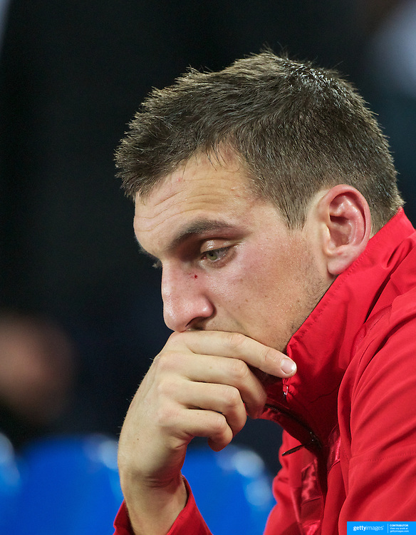 Welsh Captain Sam Warburton after his sending off during the Wales V France Semi Final match at the IRB Rugby World Cup tournament, Eden Park, Auckland, New Zealand, 15th October 2011. Photo Tim Clayton...