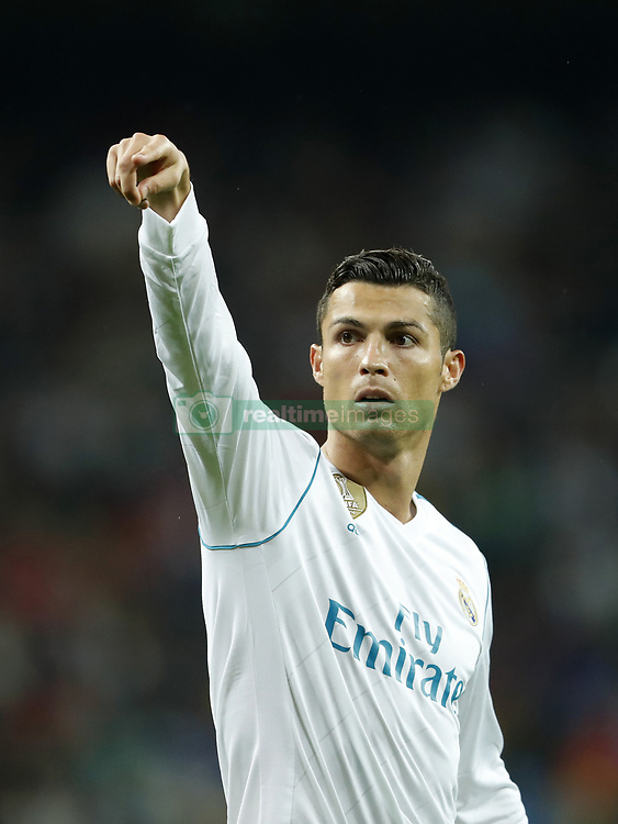 Cristiano Ronaldo of Real Madrid during the UEFA Champions League group H match between Real Madrid and Tottenham Hotspur on October 17, 2017 at the Santiago Bernabeu stadium in Madrid, Spain.