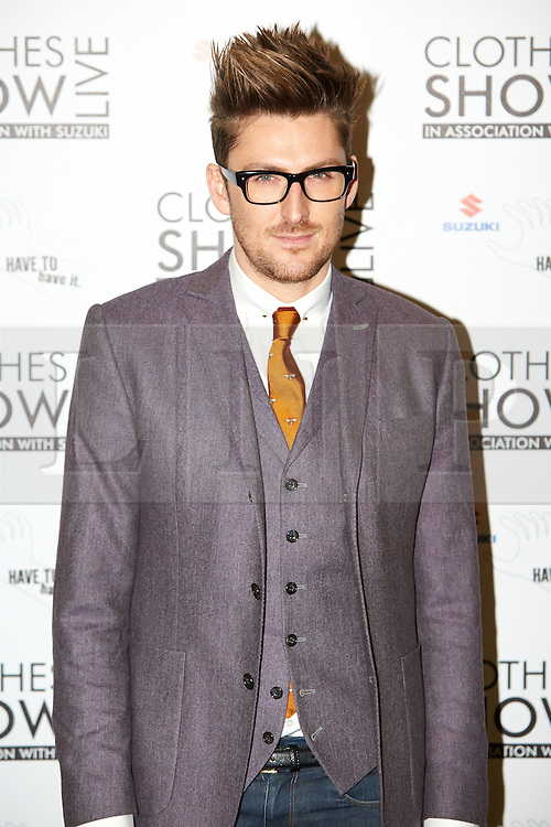 © Licensed to London News Pictures.  07/12/2012. BIRMINGHAM, UK. Fashion designer Henry Holland (pictured) is seen during the opening photo call for the Clothes Show Live event being held in the NEC, Birmingham. The show opens today and runs until Tuesday. Photo credit :  Cliff Hide/LNP