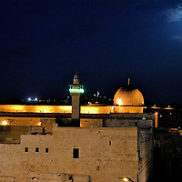Dome of the Rock in Moonlight on Temple Mount in Jerusalem, Israel<br />