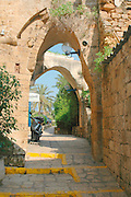 Small Alley in the renovated Old Jaffa, Israel