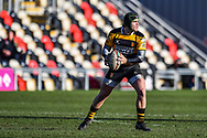 Newport's Tom Pascoe in action - Mandatory by-line: Craig Thomas/Replay images - 04/02/2018 - RUGBY - Rodney Parade - Newport, Wales - Newport v Ebbw Vale - Principality Premiership