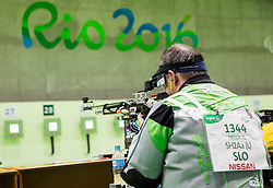 France Gorazd Tirsek - Nani of Slovenia during Qualification of R4 - Mixed 10m Air Rifle Standing SH2 on day 3 during the Rio 2016 Summer Paralympics Games on September 10, 2016 in Olympic Shooting Centre, Rio de Janeiro, Brazil. Photo by Vid Ponikvar / Sportida