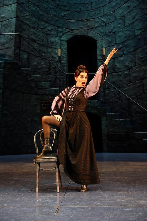 Young Frankenstein.Beth Leavel (Frau Blucher).Cast Change FOH.Direction and Choreography:  Susan Stroman.Music by Mel Brooks.August 5, 2008.Credit Photo: ©2008 Paul Kolnik.Paul Kolnik Studio.317 West 87th Street, 1A.New York, NY  10024.t: 212.362.7778.studio@paulkolnik.com