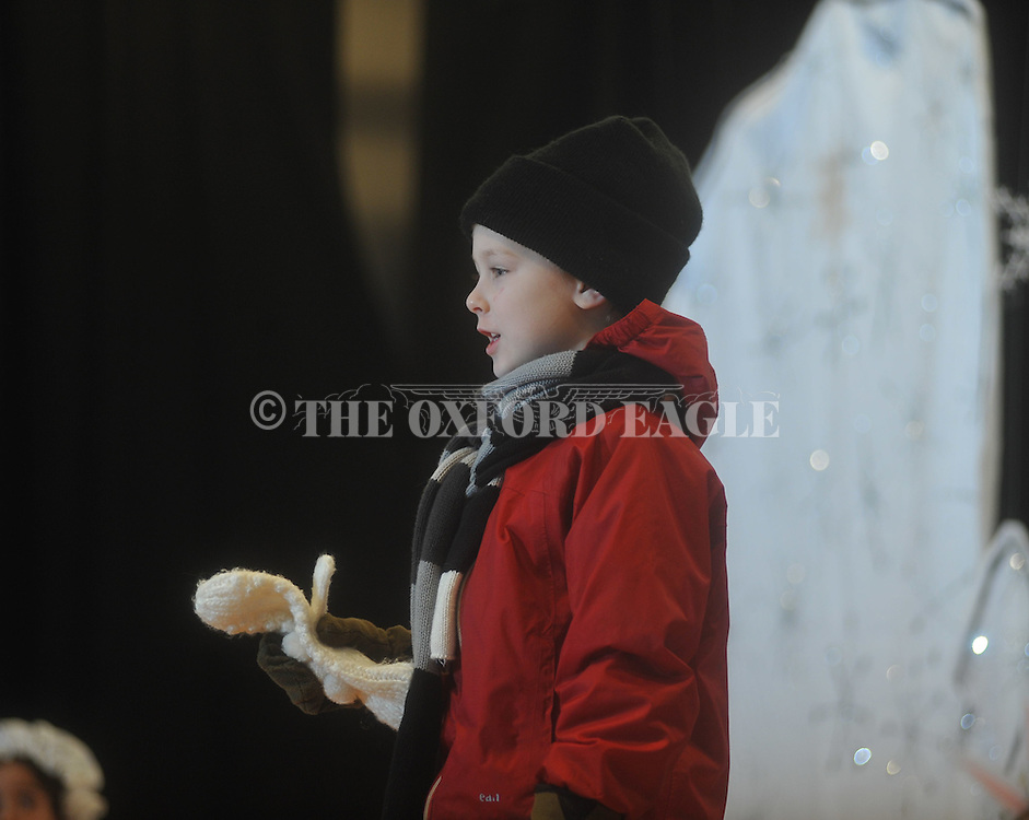 "Eli Nordstrom and Bramlett Elementary kindergarten students perform the play ""The Mitten"" in Oxford, Miss., on Friday, January 21, 2011."