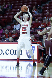 01 November 2017: Hannah Green during a Exhibition College Women's Basketball game between Illinois State University Redbirds the Red Devils of Eureka College at Redbird Arena in Normal Illinois.