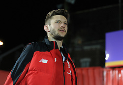 Adam Lallana of Liverpool arrives at St james park. - Mandatory byline: Alex James/JMP - 08/01/2016 - FOOTBALL - St James Park - Exeter, England - Exeter City v Liverpool - FA Cup Third Round