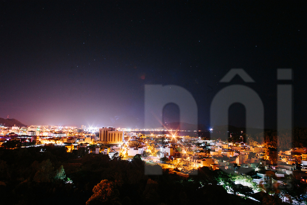 Cityscape at night, Quy Nhon,Vietnam, Southeast Asia