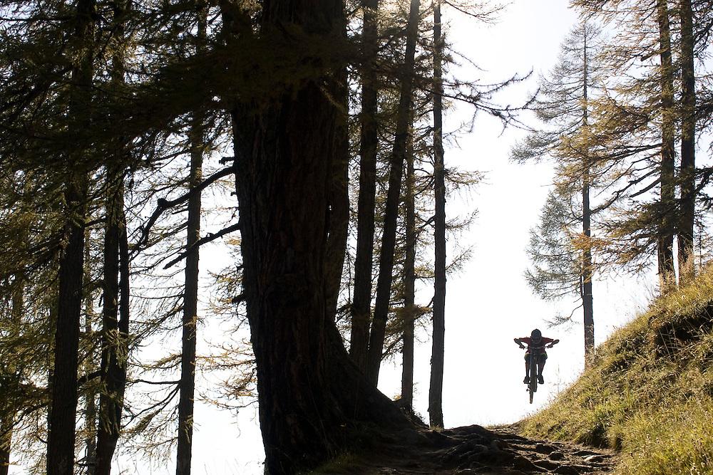 Ben Walker riding  in Lotschental Switzerland