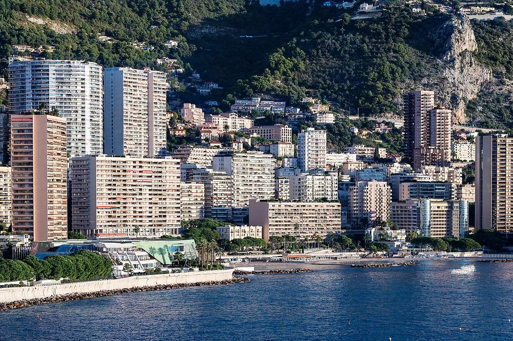 Monaco coastline and architecture.