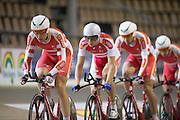 det danske banelandshold før afrejsen til årets VM i Cali, Colombia 2014