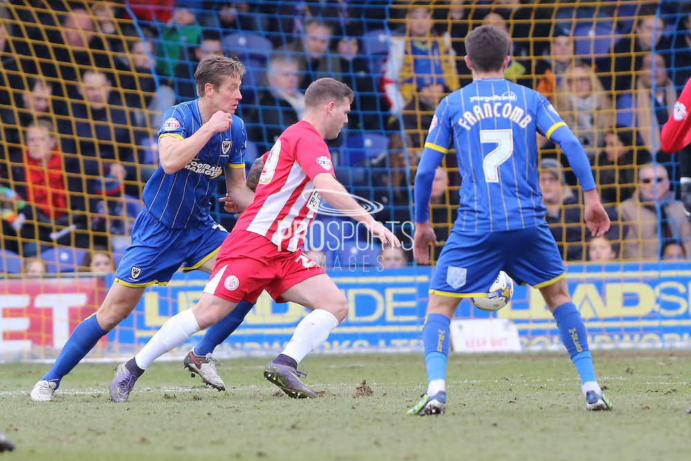 Paul Robinson defender for AFC Wimbledon (6) in action during the Sky Bet League 2 match between AFC Wimbledon and Accrington Stanley at the Cherry Red Records Stadium, Kingston, England on 5 March 2016. Photo by Stuart Butcher.
