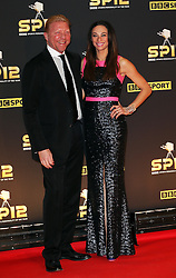 Boris Becker and wife Lilly arriving at the BBC Sports Personality of the Year awards in London, Sunday, 16th December 2012.  Photo by: Stephen Lock / i-Images