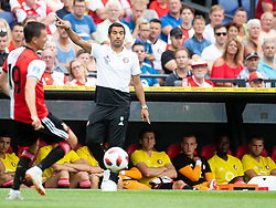 coach Giovanni van Bronckhorst of Feyenoord during the Pre-season Friendly match between Feyenoord Rotterdam and Levante UD at the Kuip on July 29, 2018 in Rotterdam, The Netherlands