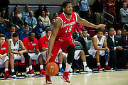 DALLAS, TX - JANUARY 21: Craig Brown #15 of the Rutgers Scarlet Knights drives to the basket against the SMU Mustangs on January 21, 2014 at Moody Coliseum in Dallas, Texas.  (Photo by Cooper Neill/Getty Images) *** Local Caption *** Craig Brown