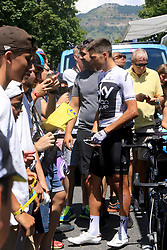 Team Sky's Gianni Moscon. Picture date: Sunday July 22, 2018. See PA story CYCLING Tour. Photo credit should read: Ian Parker/PA Wire