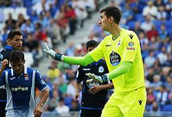 September 24, 2017 - Barcelona, Catalonia, Spain - Costel Pantilimon during La Liga match between RCD Espanyol v Real Club Deportivo de La Coruna , in Barcelona, on September 24, 2017. (Credit Image: © Joan Valls/NurPhoto via ZUMA Press)