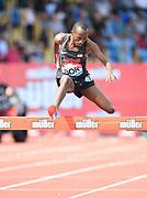 Hillary Bor (USA) places eighth in the steeplechase in  8:30.04 during the Grand Prix Birmingham in an IAAF Diamond League meet in Birmingham, United Kingdom, Saturday, Aug. 18, 2018. (Jiro Mochizuki/mage of Sport)