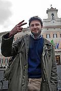 2013/03/06 Roma, nella foto Alessandro Di Battista.<br /> Rome, in the picture Alessandro Di Battista - &copy; PIERPAOLO SCAVUZZO