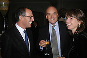 Lloyd Grossman, Nicholas Coleridge and Sarah Miller. The Tatler Restaurant Awards in association with  Louis Roederer champagne.  The Four Seasons Hotel, Hamilton Place, London. 10 January 2004. ONE TIME USE ONLY - DO NOT ARCHIVE  © Copyright Photograph by Dafydd Jones 66 Stockwell Park Rd. London SW9 0DA Tel 020 7733 0108 www.dafjones.com