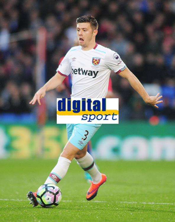 Football - 2016 / 2017 Premier League - Crystal Palace vs. West Ham United<br /> <br /> Aron Cresswell of West ham at Selhurst Park.<br /> <br /> COLORSPORT/ANDREW COWIE
