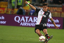 May 12, 2019 - Rome, Lazio, Italy - Roma, Lazio, Italy, 12-05-19, Italian football match between As Roma - Juventus at the Olimpico Stadium in picture Paulo Dybala striker of Juventus , the final score is  0-2 for As Roma  (Credit Image: © Antonio Balasco/Pacific Press via ZUMA Wire)